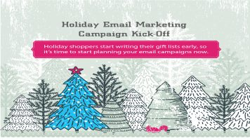Holiday email marketing infographic