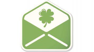 St. Patrick mail sticker